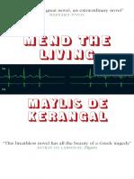 Mend the Living by Maylis de Kerangal
