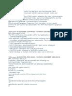 Ericsson Commands