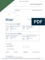 gmail - ryanair travel itinerary