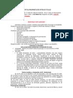 Dr PROPRIETATII INTELECTUALE Curs Integral