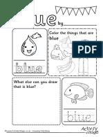 Blue Colour Worksheet Us