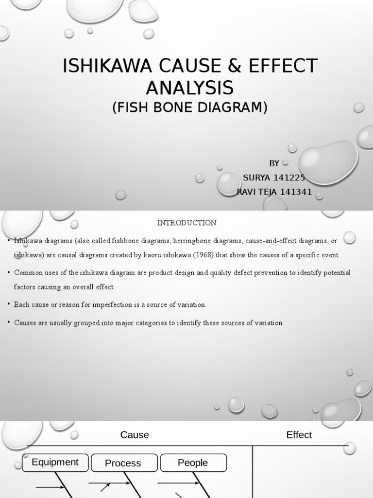 Ishikawa cause effect analysis causality business ccuart Gallery