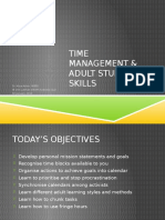 Time Management & Adult Study Skills