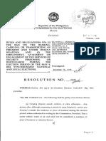 COMELEC Resolution No. 10015