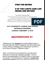 Enter the Matrix - the Effects of the CJEU's Case Law on Linking and Beyond
