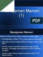Modul 8 - Manajemen Memori (1)