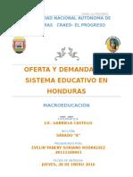 Oferta y Demanda Del Sistema Educativo en Honduras