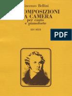 Bellini 15 Arie Da Camera Voce Pf