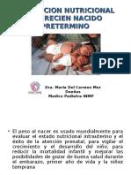 Uci 6. Evaluacion Nutricional Del Recien Nacido Pret