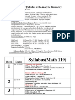 MATH 119 Calculus With Analytic Geometry_2009-1