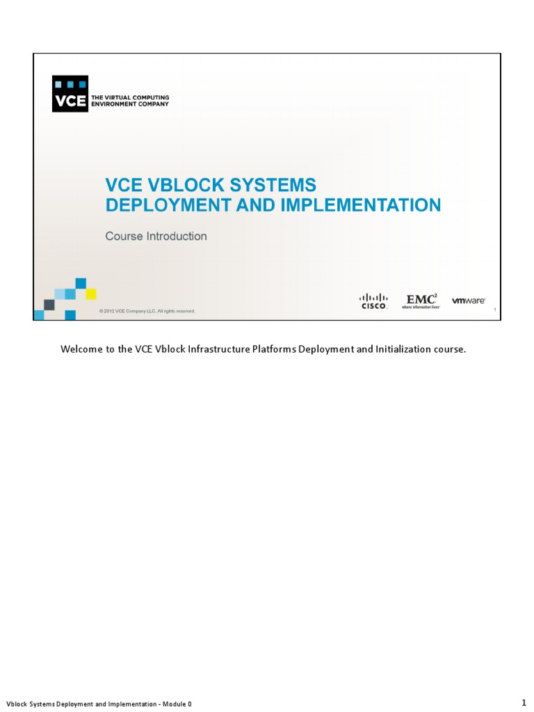 student guide vce vblock systems deployment and implementation vce rh scribd com