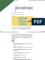 86 Expresiones Coloquiales en Francés y Su Traducción Al Español - El Blog de Idiomas