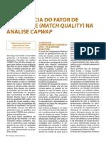 A Influencia Do Fator de Qualidade (Match Quality) Na Análise CAPWAP