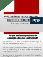 Avaliação de Programas de Educação Nutricional