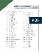 Ejercicios Propuestos de Límites y Continuidad