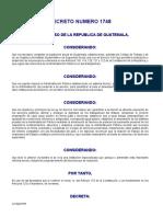 Decreto Del Congreso 1748 (Ley de Servicio Civil)