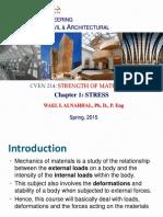 CVEN214- Lecture 1 Stress -Dr. Wael Alnahhal