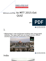 QUIZ for freshers