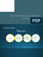 tips for multilingual writers