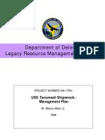 USS Tecumseh Wreck Management Plan
