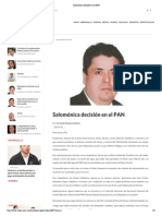 25 - 01 - 2016 Salomónica decisión en el PAN