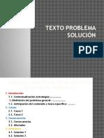 Texto Problema Solucion