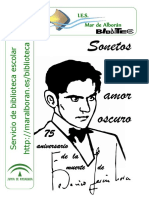 Federico García Lorca. Sonetos Amor Oscuro