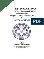 001- Pol Sc Honours & Gen Syllabus UGB NEW