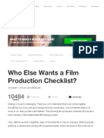 the official 65 step film production checklist