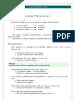 Português - Gramática Eletrônica 13 Colocação Pronominal