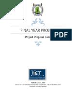 FYP Proposal Form 2016 v3