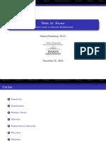Discrete Mathematics - week14