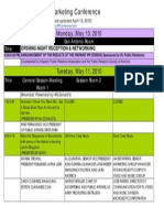 Master Conference Schedule (Updated Version April 13 10)