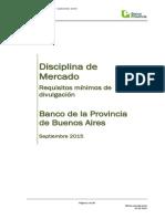 DISCIPLINA de MERCADO (Requisitos Mínimos de Divulgación)