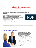 Pls Ql Interview Questions and Answers Job Interview Tips