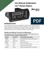 Instruction Manual Addendum ProVu PD6000