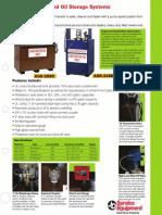 JDI Waste Oil Storage Flier