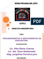 Procedimientos e Instrumentos de Evaluación