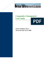 Comparative Management Costs Study Oracle Database 11g vs. Microsoft SQL Server 2008