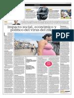 Impacto Social, Económico y Político Del Virus Del Zika