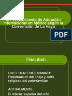 ElProcedimientodeAdopción Internacional en Mexico Segun La Convencion de La Haya