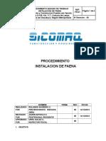 N°01 - Instalación de Faena