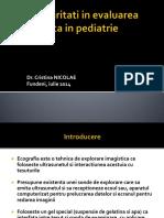Evaluarea Ecografica in Pediatrie- C. Nicolae