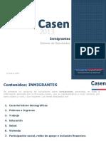 CASEN (2013). Inmigrantes