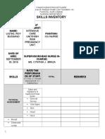 ICU Skills Inventory Final