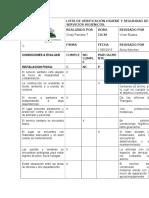 Lista de Verificación Higiene y Seguridad de Servicios Higienicos