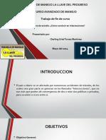 Presentación de intersecciones en vias