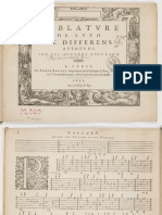 F-Pierre Ballard (1631) Tablature de luth de differens auteurs, sur les accords nouveaux