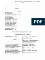 Plaintiff's Memorandum in Opposition to State of Hawaii's Motion for Summary Judgment, Bridge Aina Lea, LLC v. State Land Use Comm'n, No. 11-00414 SOM-BMK (D. Haw. filed Jan. 19, 2016)
