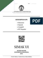 simak UI Kemampuan IPS 2015